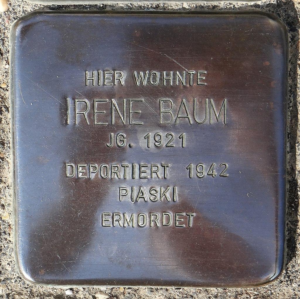 Undenheim Stolperstein Staatsrat-Schwamb-Straße 74 Irene Baum.jpg