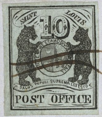 Provisional stamp - Provisional stamp issued in St. Louis, 1845