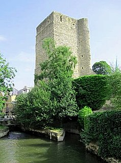 Oxford Castle partly ruined castle in Oxford in Oxfordshire, England