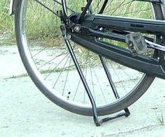 Kickstand - Kickstand on a Dutch utility bike