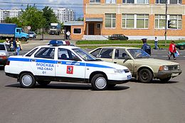 VAZ-2110 as a police car in Moscow.jpg