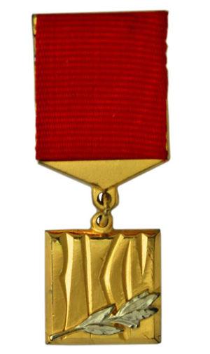 Tamara Gverdtsiteli - Image: VLKSM Prize Medal front