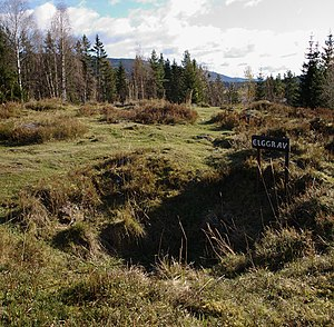 Trapping pit - Remains of an elk pit at Storøya.