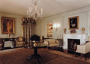 Vermeil Room - The Vermeil Room as decorated during the administration of George H.W. Bush.