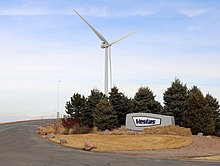 Vestas Wind Systems entrance in Pueblo County, Colorado.JPG