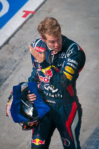 2012 Italian Grand Prix - Vettel walking back to the pits after his retirement