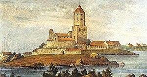 Vyborg Castle - Image: Viborgs slott 1840