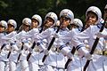 Vietnamese honor guards display marching skills in a military parade on September 29.jpg