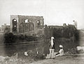 View across the moat towards the Gagan Mahal and the Sat Manzili, Bijapur..jpg