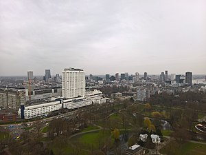 Euromast - View from the Euromast in 2016, with the Erasmus MC in front