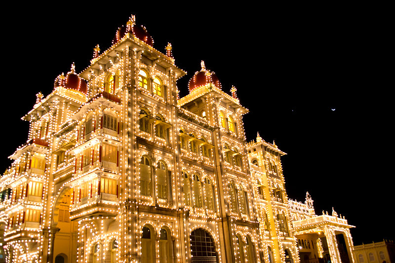 File:View of Mysore Palace in Evening.jpg