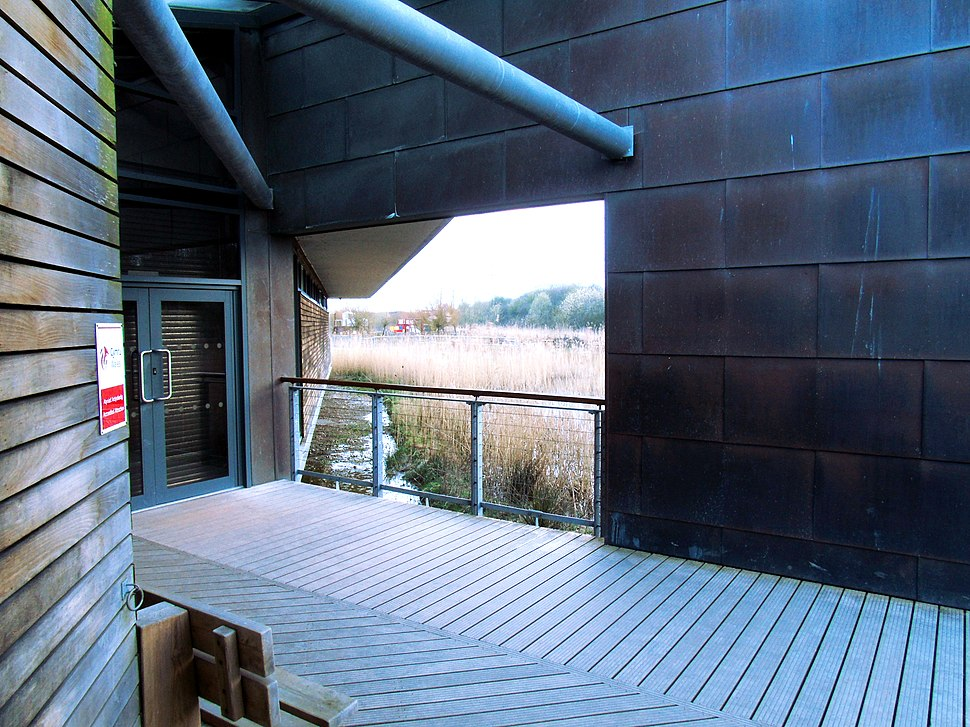 View of Play Area from Newport Wetlands RSPB Reserve Visitor Centre Bench