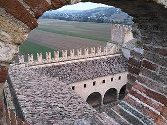 Castello della Rancia - View of the castle from the main tower.