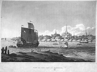 History of Bangkok - Image: View of the city of Bangkok 1822