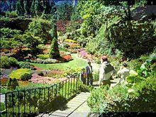 Marvelous View Of The Sunken Gardens At Butchart Gardens
