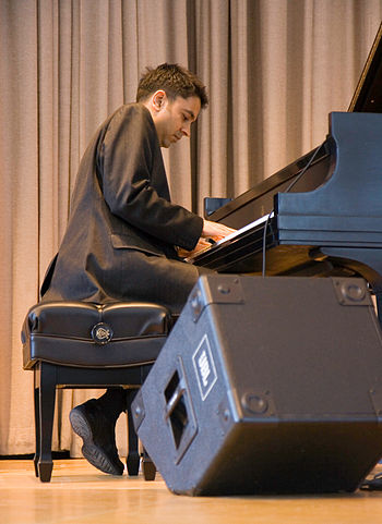 English: The Vijay Iyer Quartet performed an i...