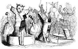"Fairy Tales Told for Children (1838) - ""The Steadfast Tin Soldier"" illustration by Vilhelm Pedersen, Andersen's first illustrator (1850)"