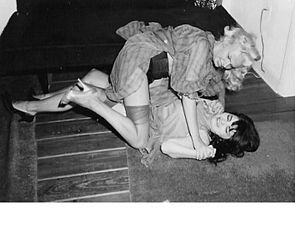Catfight - In the post-war years, photographers began marketing pictures of women in catfights