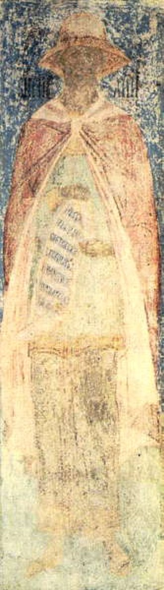Virtuous pagan - Virgil. Fresco from the Cathedral of the Annunciation, Moscow.