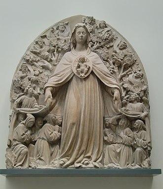 Bartolomeo Bon - Image: Virgin of the Misericordia, ca. 1445 50 Victoria and Albert Museum, London