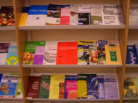 There are different types of peer-reviewed research journals; these specific publications are about food science Vitoria-University-Library-food-science-journals-4489.jpg