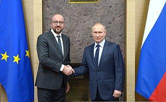 Charles Michel - Michel and Russian President Vladimir Putin, 31 January 2018