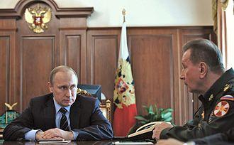 National Guard of Russia - Vladimir Putin and National Guard Director Viktor Zolotov, 5 April 2016