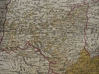 Further Austria - Further Austria shown on a 1788 map
