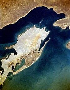 Vozrozhdeniya Island from space, November 1994
