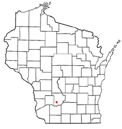 Location of Franklin, Sauk County, Wisconsin