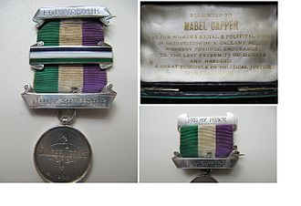 1909 in the United Kingdom - Image: WSPU Hunger Strike Medal