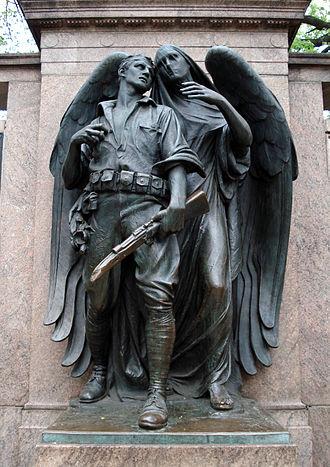 Henry Augustus Lukeman - Lukeman-sculpted bronze statue at the World War I monument in Prospect Park, Brooklyn.