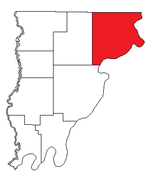 Location of Wabash Precinct in Wabash County