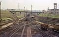 Wagons being sorted after passing over the hump at Tinsley Marshalling Yard, Nigel Tout, 6.8.74.jpg