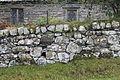 Wal arreg Eglwys Llanrhychwyn Conwy dry stone wall North Wales.JPG