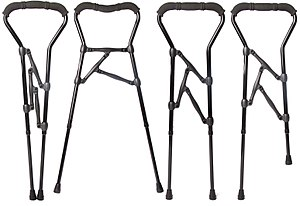 Walker (mobility) - A Walker Cane Hybrid adjusted to four configurations.