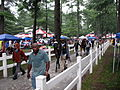 Walking the horses from the Track, Opening Day in the Rain Saratoga Racetrack NY 8384 (4854184336).jpg
