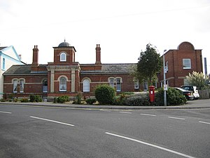 Walton-on-the-Naze railway station - The original station building, converted into residential accommodation, which is adjacent to the current station