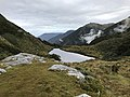 Wangapeka Track - Saddle Lake from Little Wanganui Saddle.jpg