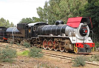 South African Class 19D 4-8-2 - No. 2644 at SANRASM's South Site, 3 February 2011, before being vandalised to the extent that it was scrapped in 2014
