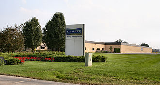 Warsaw, Indiana - Da-Lite headquarters building.