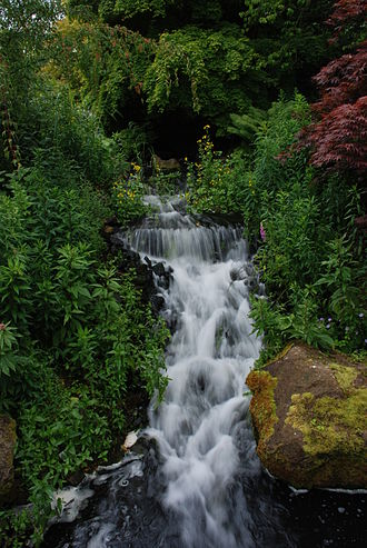 Royal Botanic Garden Edinburgh - Waterfall in the rock garden