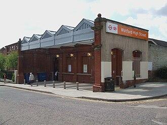 Watford High Street railway station - Image: Watford High Street stn building