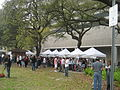 Wednesday at Square NOLA Mch 2010 food tent row.JPG