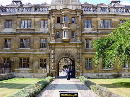 The front of Clare College Welcome to Clare.jpg