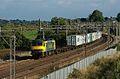 West Coast Main Line freight, 90045 hurries past The Three Locks. - panoramio.jpg