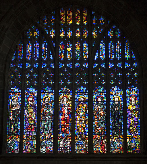 West window in Cathedral, Chester straight