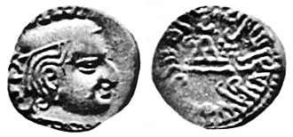 Damajadasri III - Damajadasri III as portrayed in his coin.