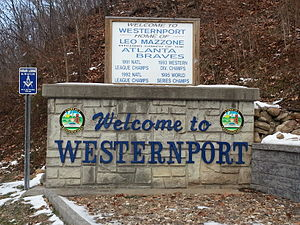 Westernport, Maryland - Welcome sign
