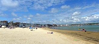 Weymouth Beach - Image: Weymouth beach in July 2011